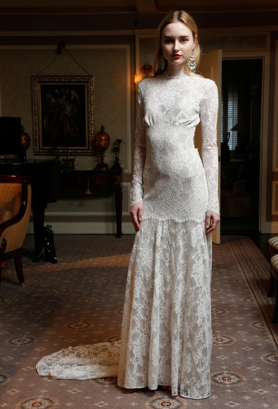 Claire Pettibone Bridal Spring 2017 Courtesy of WWD