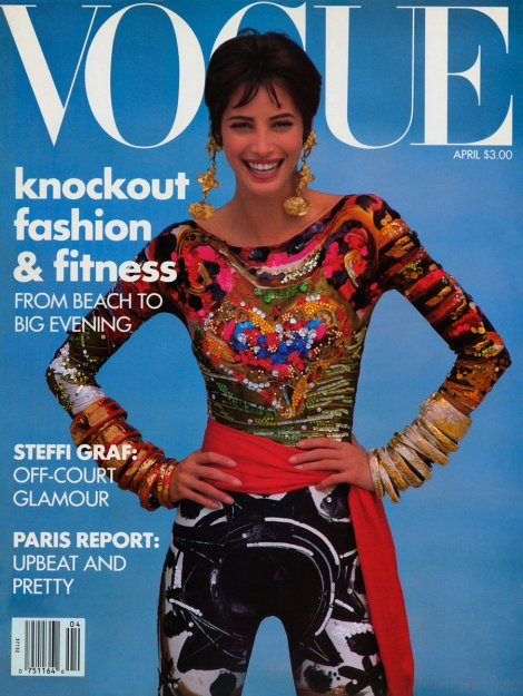 Christy Turlington Vogue US April 1990