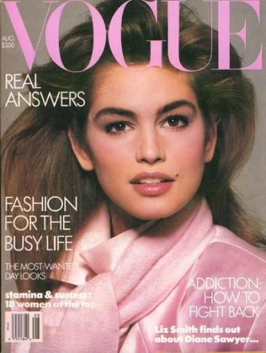 Cindy Crawford Vogue US August 1986