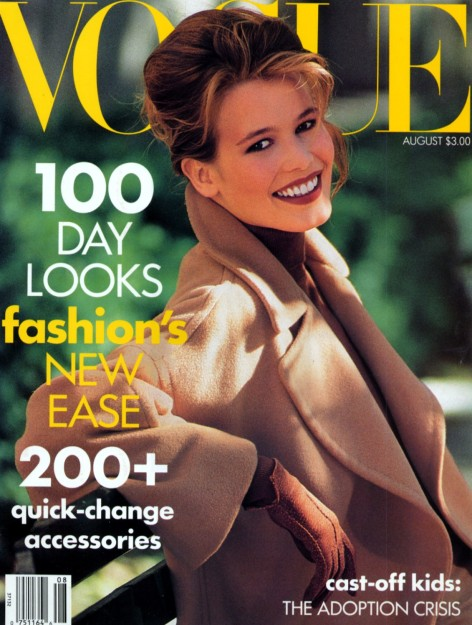 Claudia Schiffer Vogue US August 1990