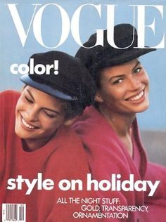 Linda Evangelista Vogue US December 1988