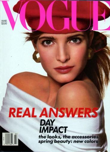 Stephanie Seymour Vogue US March 1988