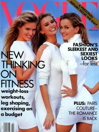 Karen Mulder Vogue US April 1991