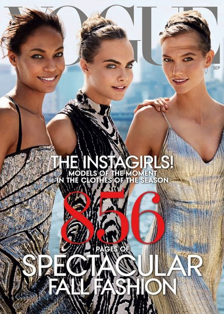 Joan Smalls, Cara Delevingne, Karlie Kloss Vogue US September 2014