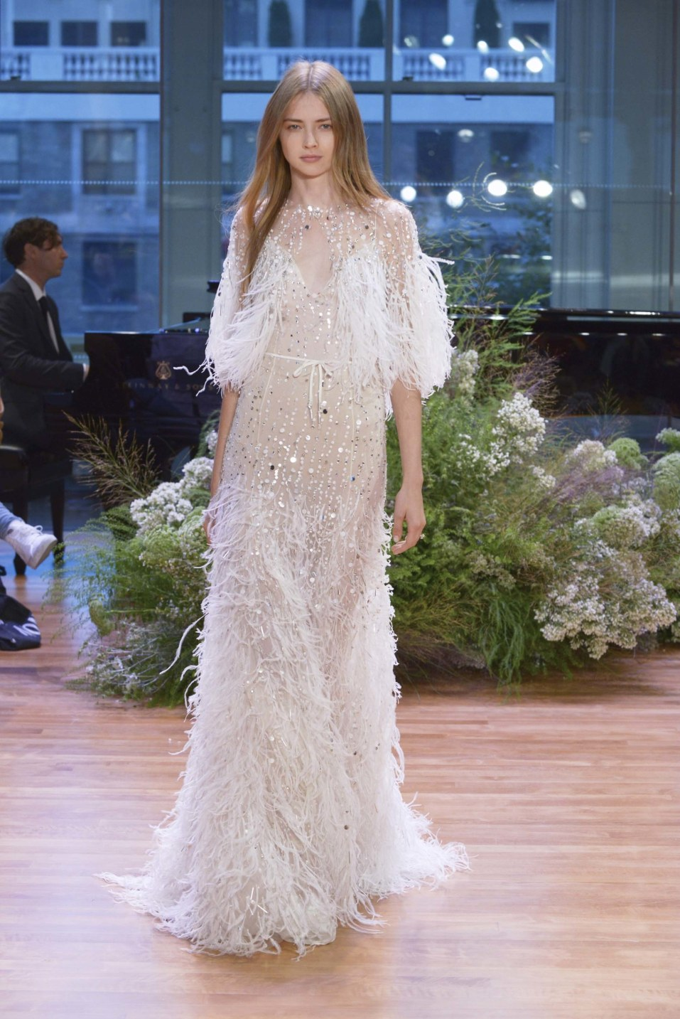 Monique Lhuillier Bridal Fall 2017 Courtesy of Vogue